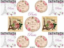 VinTaGe ImaGe ShaBbY PaRiS LaBeLs WaTerSliDe DeCals