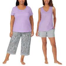 Carole Hochman Ladies' 4-Piece Cotton Pajama Set