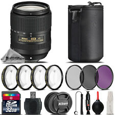 Nikon Af-s DX 18-300mm VR Lens 4pc Macro Kit UV CPL FLD Filter - 32gb Kit