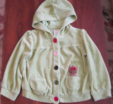 Gymboree Girls Green Yorkie Puppy Dog Velour Hoodie Jacket Coat 2T-3T EUC