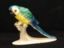 Porzellan Papagei - Hertwig - Katzhütte / Thüringen - Keramik Figur