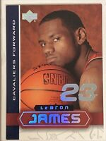 2003-04 UD SUPERSTARS LeBron James Rookie # LBJ1 HARD TO FIND INSERT RC *READ*