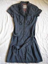 Esprit Polo Jeans Kleid Kurzarm Gr.34 Size XS women long polo shirt polo neck