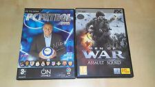 Lote Juegos PC: PC Futbol 2005 y Men of War, Assault Squad DVD