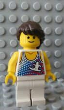 NEW Lego FEMALE Girl with Surfer Torso long Brown Hair