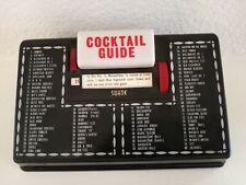 Vintage Swank 50s Bar Guide Scrolling Cocktail 80 Recipe Light Up Art Deco Japan