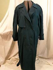Donnybrook Woman's Navy Blue Trench Rain Coat Size 10 Authentic Rainwear