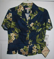 Jamaica Bay Ladies Petite Hawaiian Rayon Women's Shirt - Size: PS - NEW w/Tags