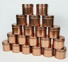 20x Round Rose Gold Candle Tins Metal Tin 250ml For WAX Making Container Jar
