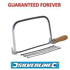 "Silverline 6"" Coping / Fret Saw Wood Handle Steel Metal Frame With 5 Blades"