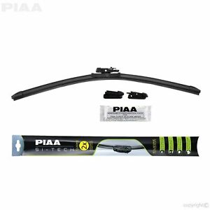 PIAA 97040 Si-Tech Silicone Flat Windshield Wiper Blade 16 in./400 mm Rubber
