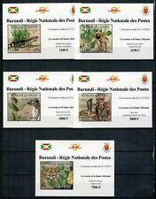 2012 BURUNDI - ANIMALI E CACTUS - FOGLIETTI - MNH
