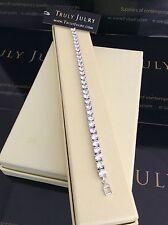 Lujosa Pulsera de tenis señoras elementos de cristal de Swarovski Joyas Regalo UK