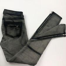 Paige Skinny Gray Jeans Stretch Slim Pants Womens 25 (H11)