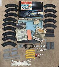 AURORA MODEL MOTORING HO TJET Slot Car Race Track Set Loy Thunder Jet w/ 2 Cars