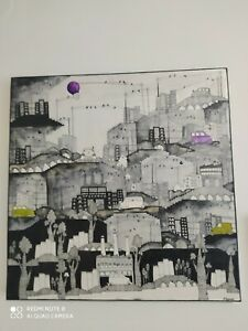 Art .Painting  . Cities of Maria parianou.60x6 Μελάνι