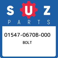 01547-0670B-000 Suzuki Bolt 015470670B000, New Genuine OEM Part