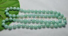 Long 30 inches 10mm Natural Blue Amazonite Gemstone Round Beads Necklaces