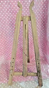 Ancien Petit Chevalet Bois De Peintre Pliable Pour Tableau déco loft atelier