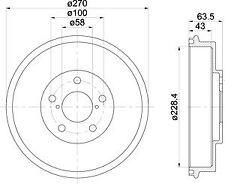 1 X MBD282 MINTEX BRAKE DRUM INNER 228.4 MM, OUTER 270 MM