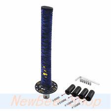 Samurai Sword Shift Knob Shifter Katana Metal 26cm Blue&Black With Adapters