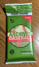 2020 Topps Archives Baseball Fat Pack w/ 1955 Albert Pujols on Top of Pack