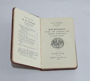 Masonic M.M.Taylor's Sections 1908 edition  (STFH)