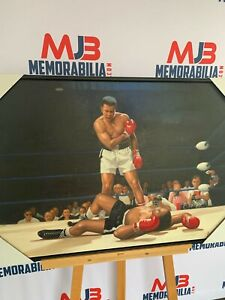 Hand Painted Sonny Liston and Muhammad Ali Fight Painting