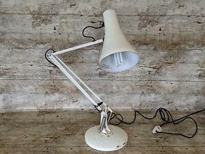 Original Herbert Terry Anglepoise Model 90 Ivory Desk Lamp Mid Century