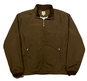 Peter Millar Golf Performance Full-Zip Windbreaker Jacket  Men XL  Brown  MINT!