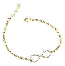 Unendlichkeit Unendlich Armband Armkette 925 Sterling Silber Infinity Gold