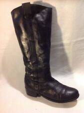 F&F Black Knee High Leather Boots Size 37