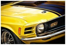 1970 Ford Mustang Mach 1 351 Cleveland Photo Print 13x19 Art Muscle Car Yellow