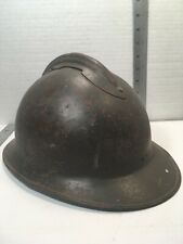 Ww2 French Army Helmet Steel w/ Liner partial chin strap Collectible