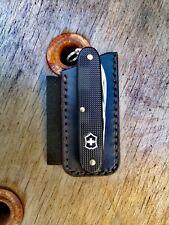 Victorinox Pioneer Fisher Space Pen Leder Etui Pouch Scheide Custom
