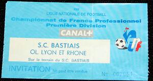 FOOTBALL TICKET MATCH SCB BASTIA OLYMPIQUE LYONNAIS CHAMPIONNAT FRANCE 1994-95