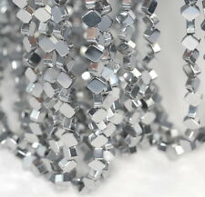 "6X6MM SILVER HEMATITE GEMSTONE DIAMOND SQUARE 6X6MM LOOSE BEADS 16"""
