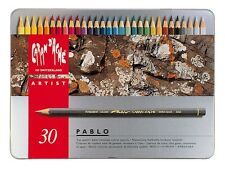 CARAN D'ACHE PABLO PERMANENT COLOURED PENCILS - Tin of 30 Assorted Colours