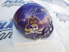 Shane Carden signed East Carolina ECU Pirates Jolly Rogers mini helmet COA