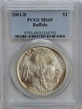 2001-D Buffalo Commemorative Silver Dollar PCGS MS69