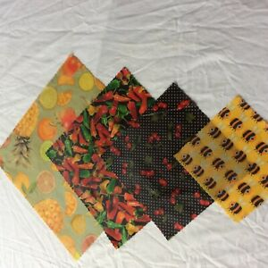 Beeswax food Wraps, PACK OF FOUR