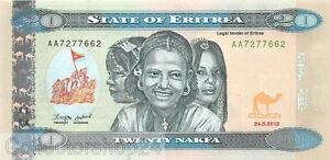 Eritrea 20 Nakfa 2012 Unc pn 12a