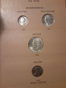Partial U S Type Set Bu 25 Coins Cent Thru Dollar