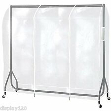 5ft Long Heavy Duty Clear Transparent PEVA Clothes Rail Protective Cover