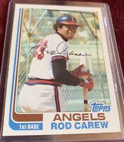 Rod Carew 1982 Topps Baseball Card # 500, California Angels MLB HOF'er