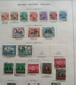 1918-1921 LOT BELGIUM BELGIQUE BELGIË VF USED B400.4 START $0.99