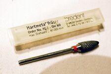 BREDENT Hartmetall Fräser dental H274 GH 60 , 40000 U/min 2,3 mm Schaft NEU