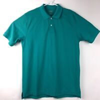 L. L. Bean Mens Slightly Fitted Polo Shirt Blue Short Sleeve Cotton Big & Tall L