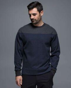 New Rare Lululemon Revolve Pullover Long Sleeve Heathered Inkwell Navy Black XXL
