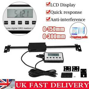 LED DRO Accurate Digital Readout Scale 0-300mm For Milling Lathe Linear